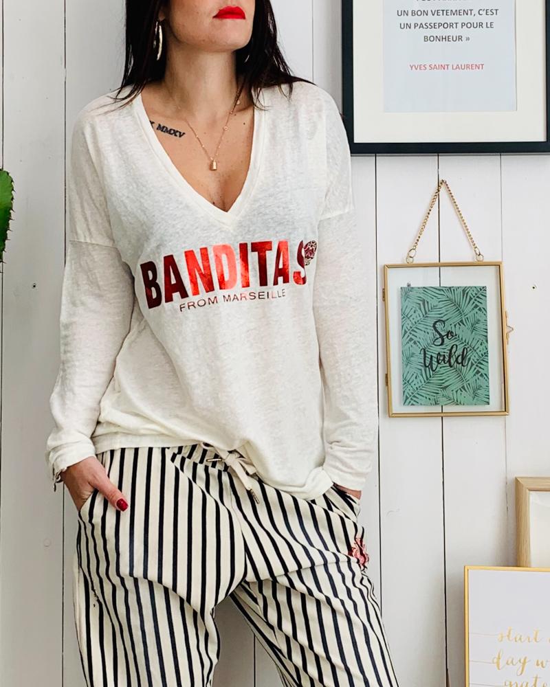 c8a5343bb279 T-shirt MILA blanc