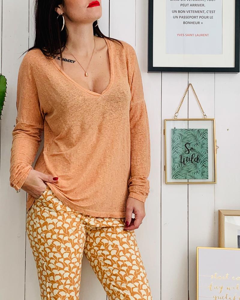 T-shirt PRAGA abricot