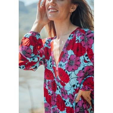 robe_latina_longue_rose_turquoise-2