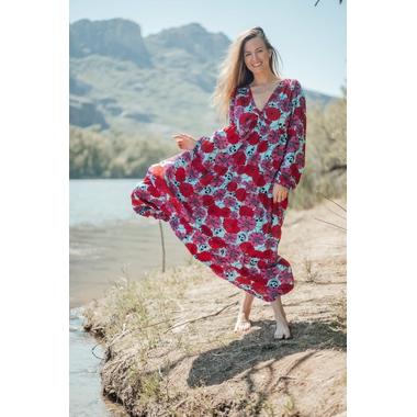 robe_latina_longue_rose_turquoise-7