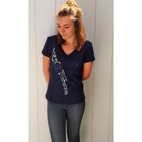 Tee-shirt PIXIT - Rosace Maori - Bleu Navy- Col V - Coupe Cintrée - Près du corps
