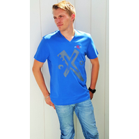 Tee-shirt symbole PIXIT - Light royal blue  - Col V - Coupe ajustée
