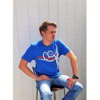 Tee-shirt PIXIT - symbole Maori - Light royal blue  - Col Rond - Coupe ajustée