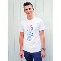 Tee-shirt PIXIT - Totem Maori - Blanc - Col Rond - Coupe ajustée