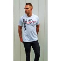 Tee-shirt PIXIT - symbole Maori - Blanc - Col Rond - Coupe ajustée