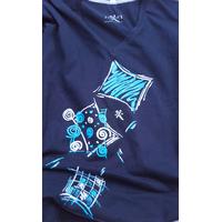 Ligne Géométrique Carré Femme Bleu Navy