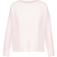 """Sweat-shirt femme """"Loose""""-Rose Pastel  -91% coton / 9% Polyester-Molleton non gratté -Toucher ultra doux-Coupe loose décontractée avec large encolure-Finitions double aiguille bas de manches-270 g/m"""