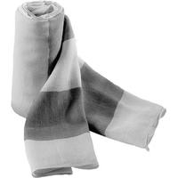 Chèche IceBlue/Denim -100% Coton. Voile de coton très léger avec larges rayures bicolores de 8cm. Finition bord roulotté.200x70cm