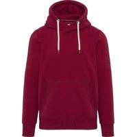 """Sweat-shirt capuche non zippé Dark / Red -80% Coton / 20% Polyester Molleton gratté. Toucher peau de pêche et aspect """"Vintage"""". Capuche doublée.Poches kangourou"""