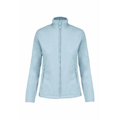 Veste Micropolaire Sky  Blue -100% Polyester-micropolaire anti-boulochage. Fermeture zippée. Coupe cintrée. 2 poches zippées. Biais de finition col, poignets et zip.