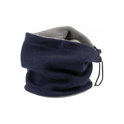Tour de cou réversible-100% maille acrylique. Tour de cou réversible avec lacet de réglage et stoppeur.
