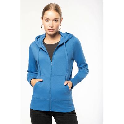 Sweat-shirt à capuche écoresponsable Femme - Light Royal Blue -Conçu à partir de 85% de coton biologique et 15% de polyester recyclé.