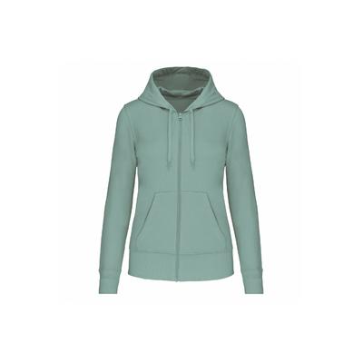 Sweat-shirt à capuche écoresponsable Femme -Vert d'eau -Conçu à partir de 85% de coton biologique et 15% de polyester recyclé.