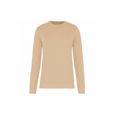 Sweat-shirt unisexe écoresponsable à col rond (Light Sand)-85% de coton biologique et 15% de polyester recyclé-Confection 3 fils LSF : résistance et stabilité au lavage.