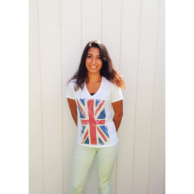 Union Jack Blanc Femme