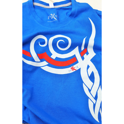 Symbole Maori Homme bleu royal