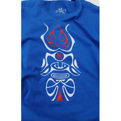 Logo Totem Maori Bleu Homme