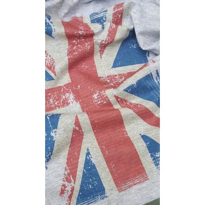 dRAPEAU Union Jack Gris
