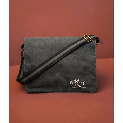 Sac Courrier / Messenger   Pixit à bandoulière -look vintage-Noir vieilli