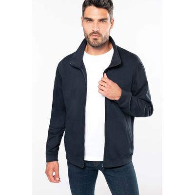 Veste molleton zippée homme Bleu Navy - Molleton Gratté -80% Coton  / 20% Polyester -Bande de propreté à l'encolure - 280 g/m²