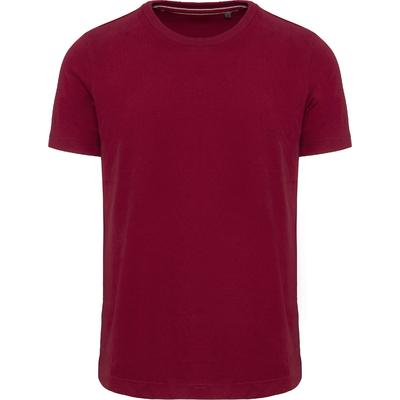Tee-shirt vintage manches courtes homme-Rouge Vintage -100% coton -Toucher peau de pêche et aspect Vintage-Finition double aiguille-Double bande de propreté en chevron à l'encolure.