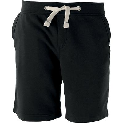 BERMUDA UNISEXE Noir -80% Coton peigné/20% Polyester-Molleton non gratté pré-rétréci (French Terry)- Large ceinture avec cordon de serrage- 2 poches devant + 1 poche arrière