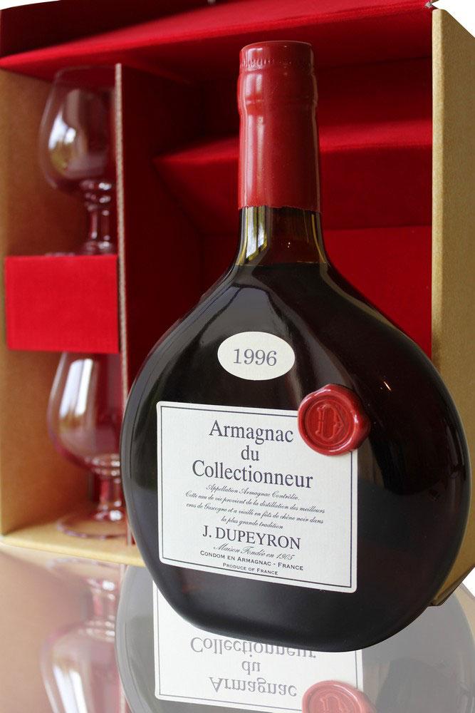 Armagnac Ryst Dupeyron 1996 + 2 Verres  - 70cl