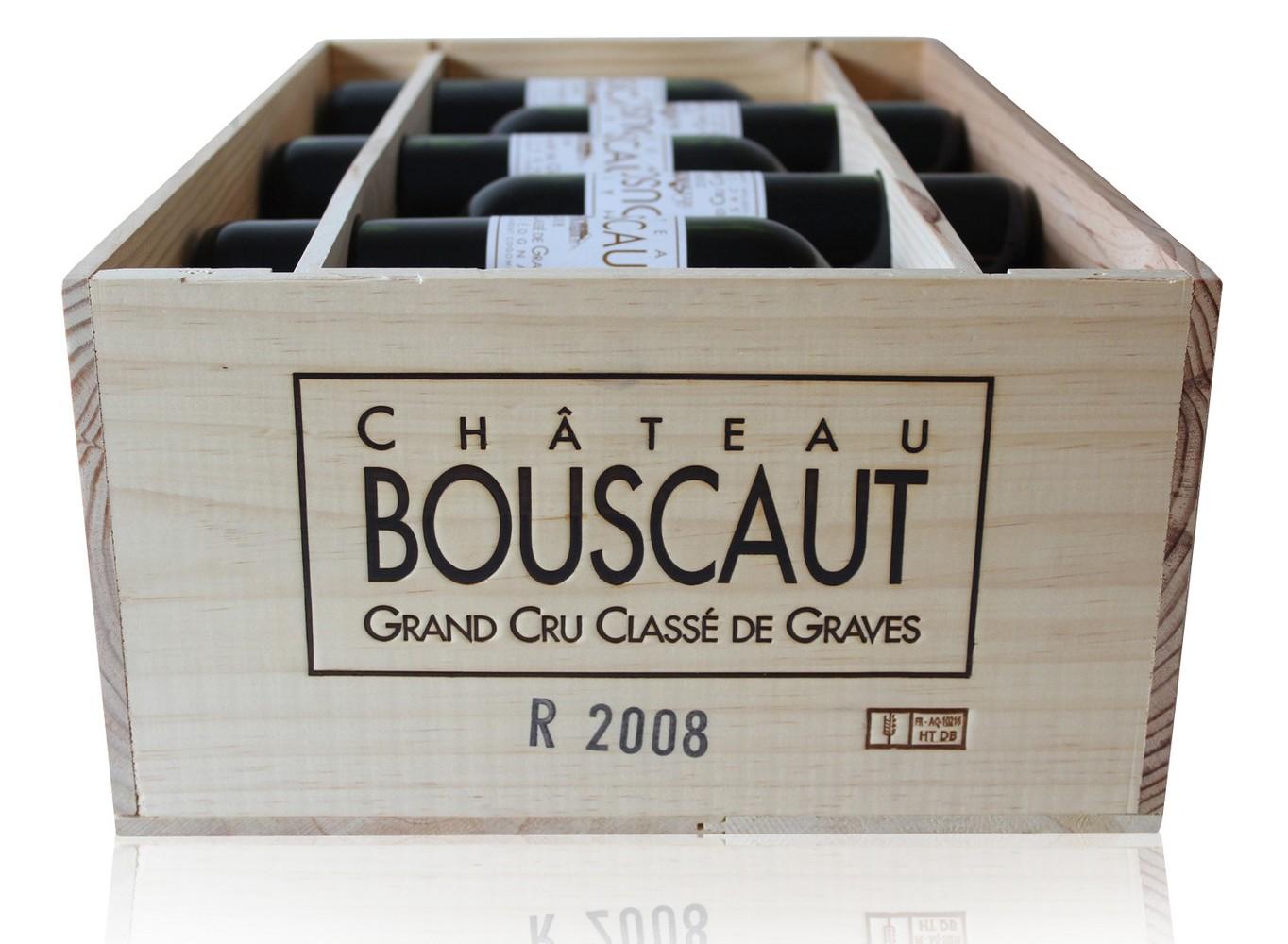 caisse 12 Bouteilles Château Bouscaut 2008 Rouge 75cl AOC Pessac-Léognan