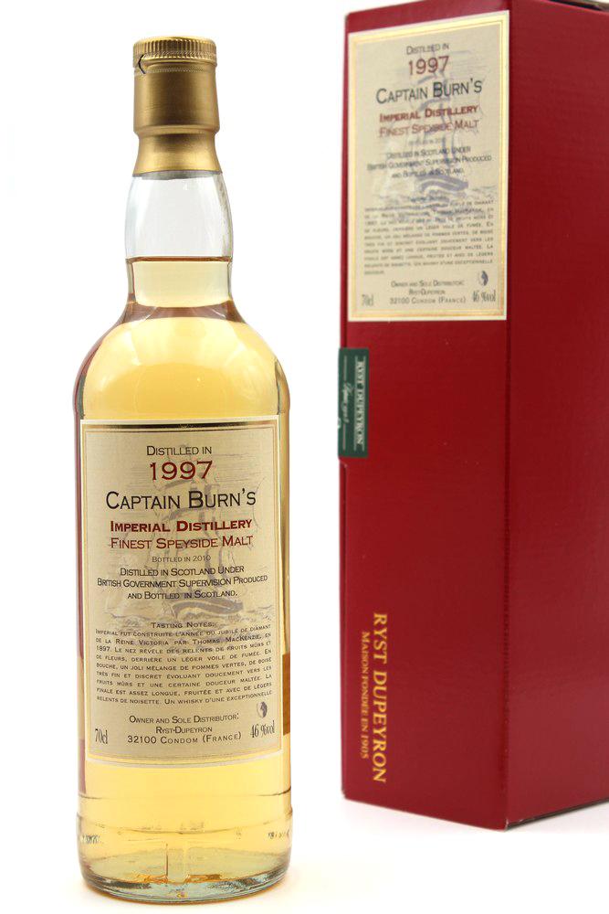 Whisky Captain Burn\'s Impérial Speyside - 1997 - 70cl
