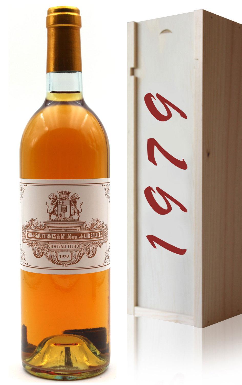 Coffret Château Filhot GCC 1979 Blanc 75cl AOC Sauternes