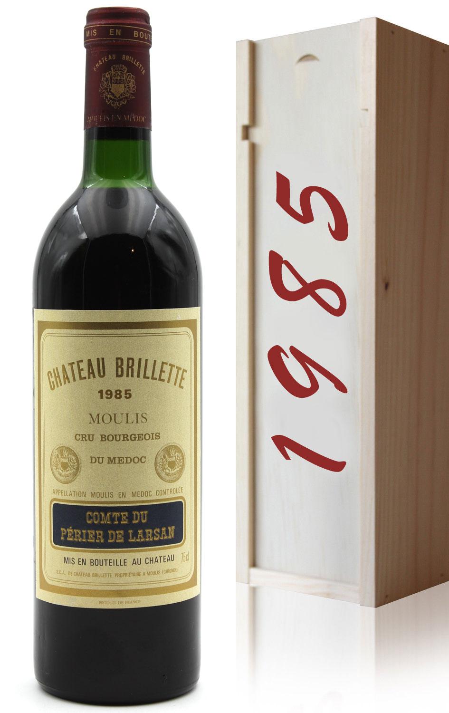 Coffret Château Brillette 1985 Rouge 75cl AOC Moulis