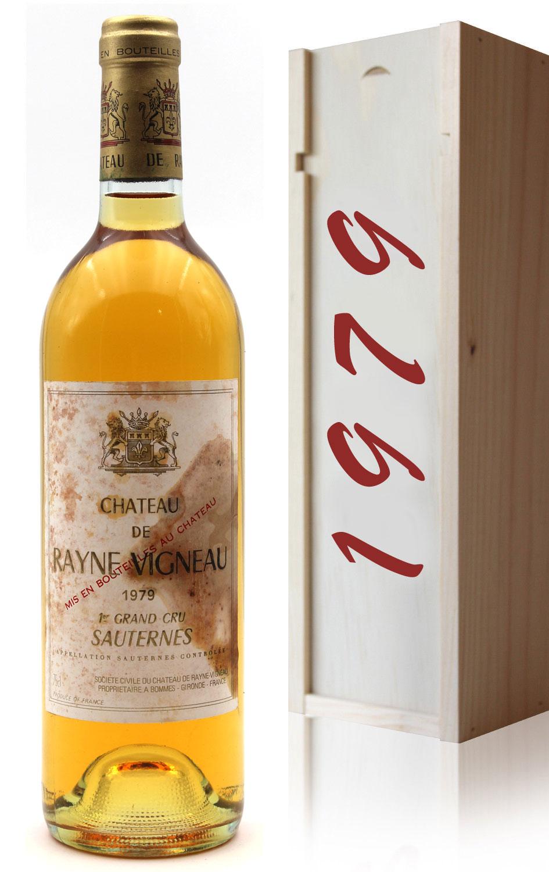 Coffret Château Rayne Vigneau 1979 Blanc 75cl AOC Sauternes