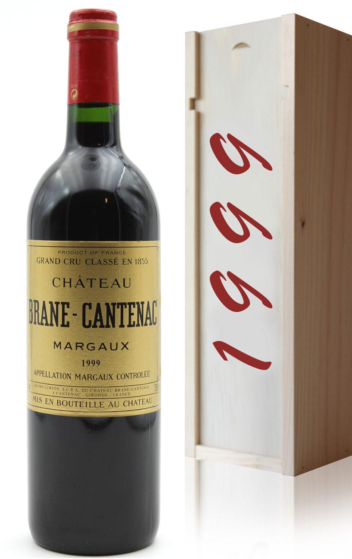Coffret Château Brane Cantenac 1999 Rouge 75cl AOC Margaux