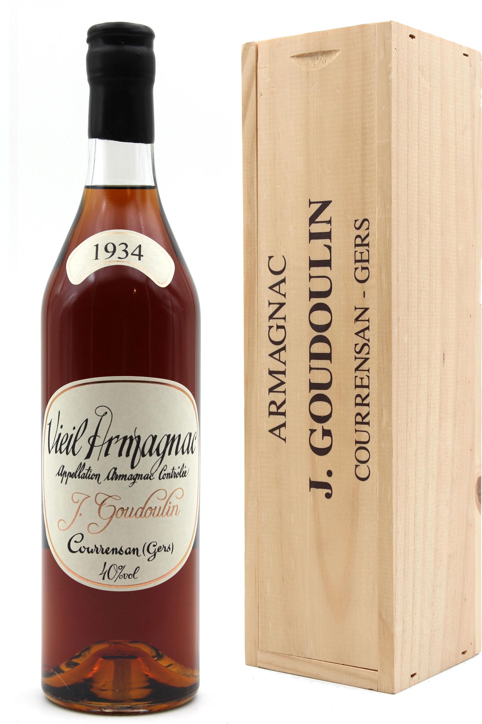 Vieil Armagnac J.Goudoulin 1934 - 70cl