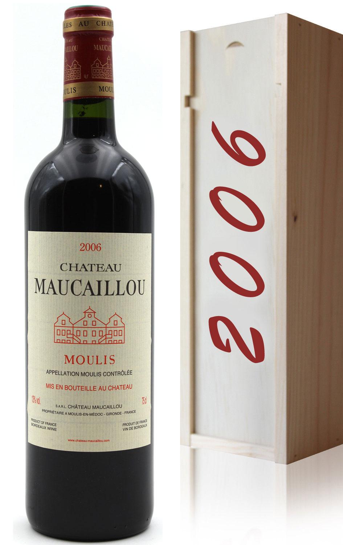 Coffret Château Maucaillou 2006 Vin Rouge 75cl AOC Moulis