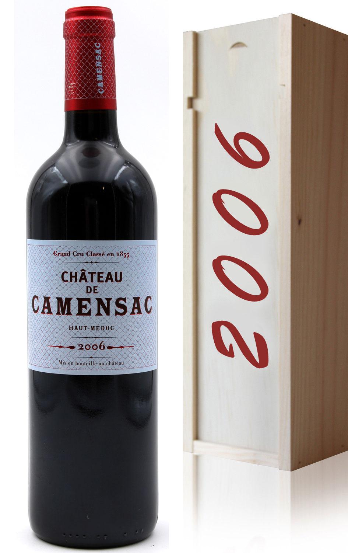 Coffret Château Camensac 2006 Vin Rouge 75cl AOC Haut Médoc