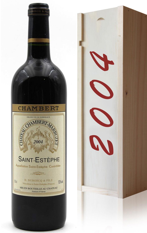 Coffret Château Chambert-Marbuzet 2004 Vin Rouge 75cl AOC Saint-Estephe