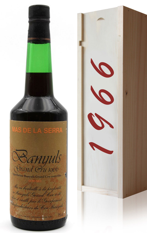 Coffret Banyuls Grand Cru 1966 Mas de la Serra Demi sec 75cl