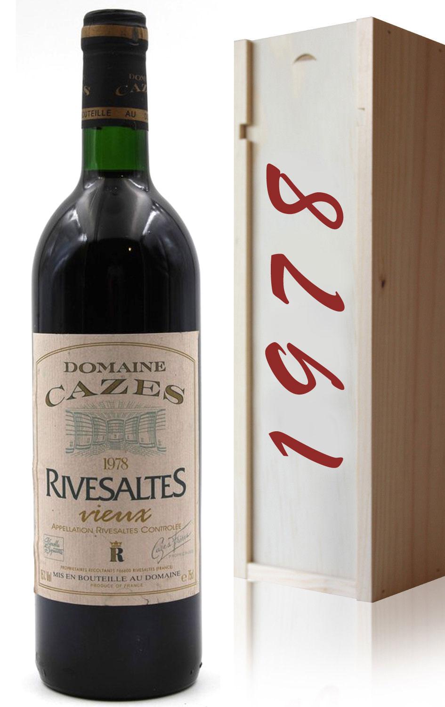 Coffret Vieux Rivesaltes Domaine Cazes 1978 - 75cl