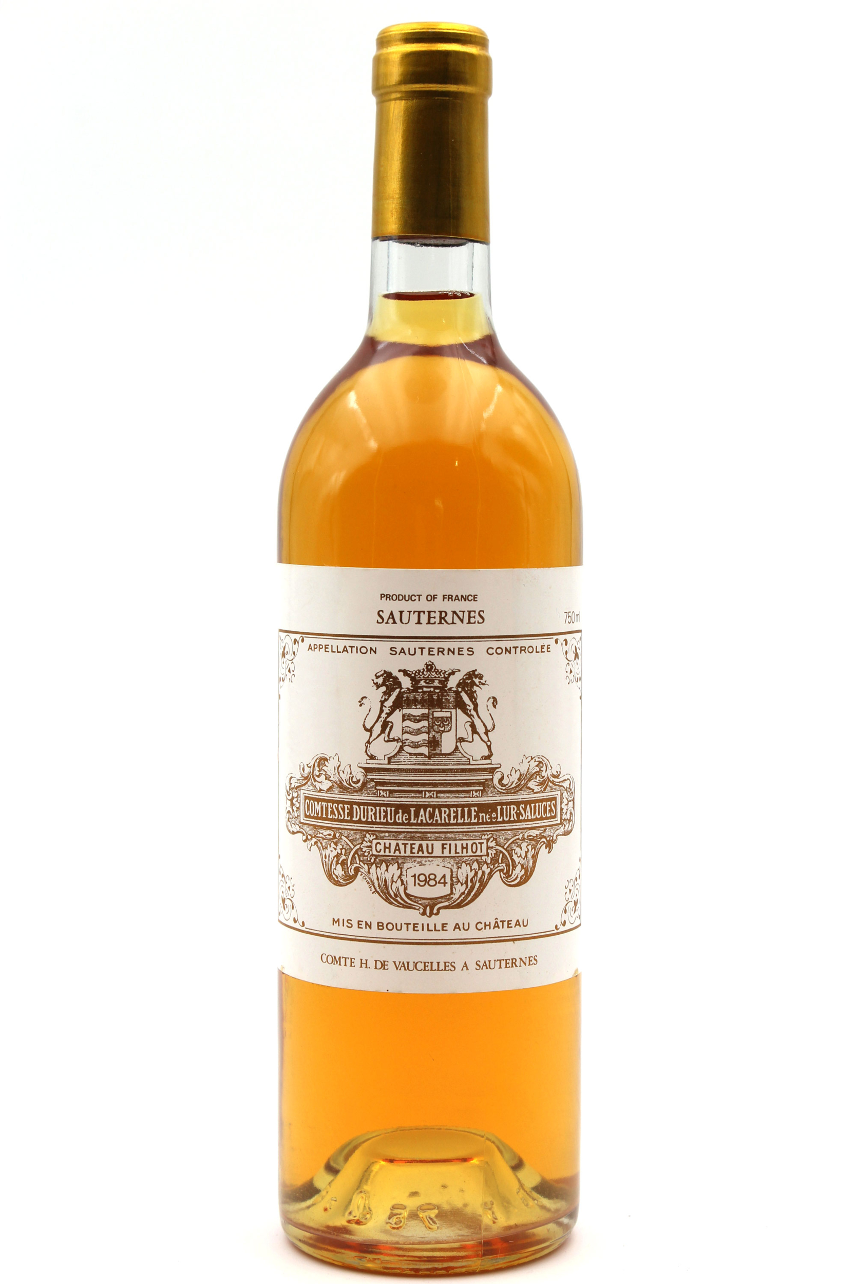 Château Filhot GCC 1984 Blanc 75cl AOC Sauternes