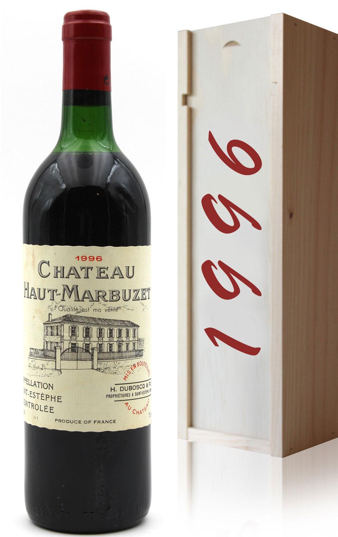 Coffret Château Haut Marbuzet 1996 Rouge 75cl AOC Saint-Estephe