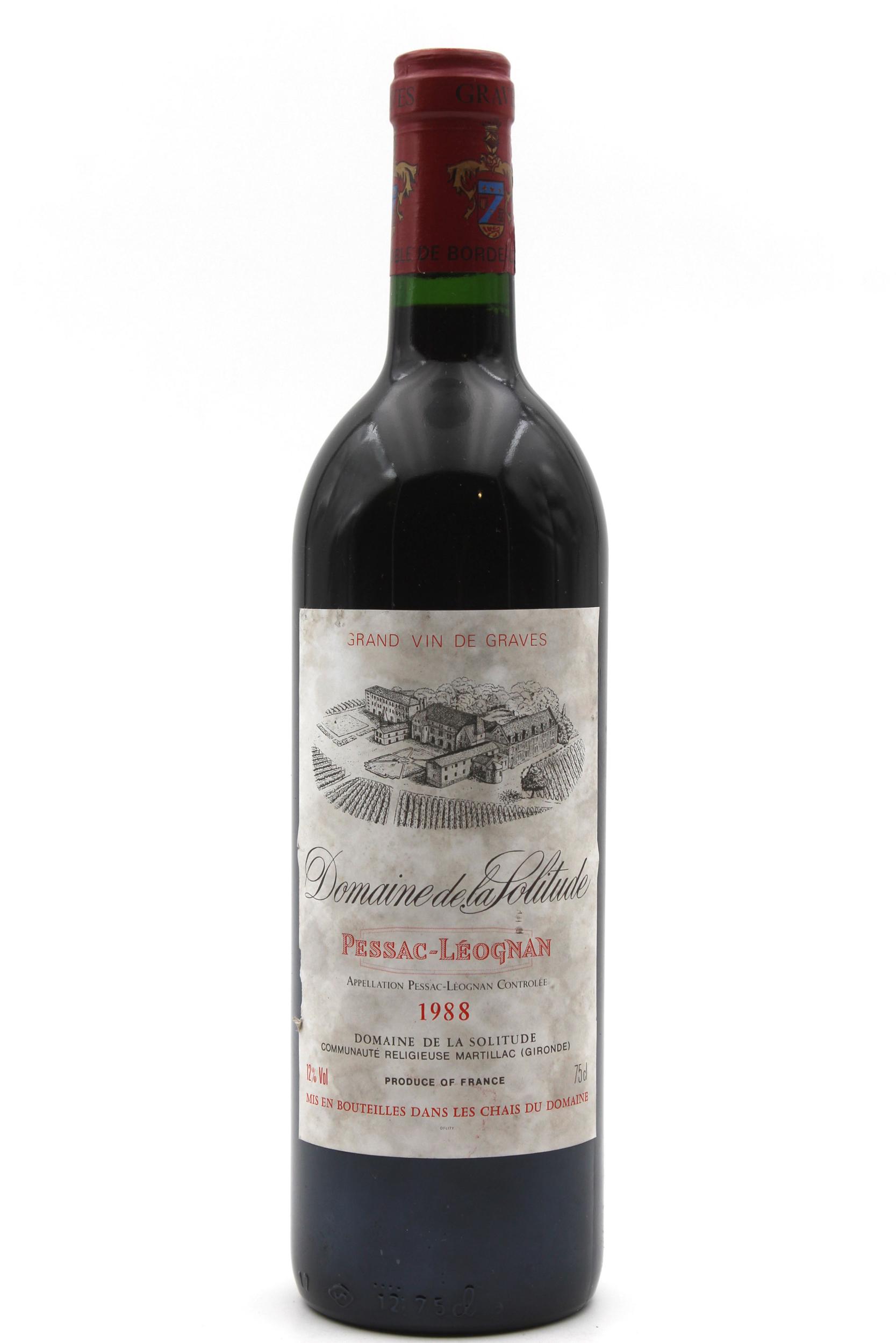 Château Domaine de la Solitude 1988 vin rouge 75cl AOC Pessac - Léognan