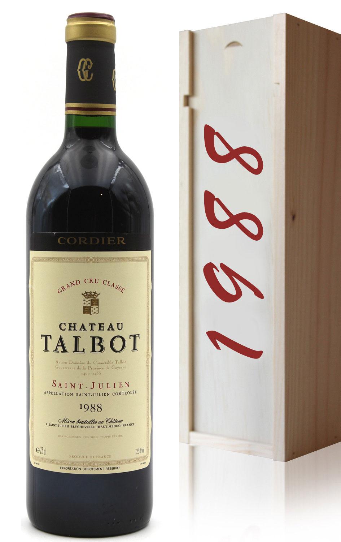 Coffret Château Talbot 1988 Rouge 75cl AOC Saint - Julien