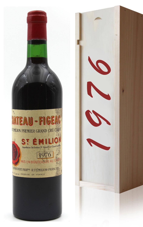 Coffret Château Figeac 1976 Vin Rouge 75cl AOC Saint Émilion