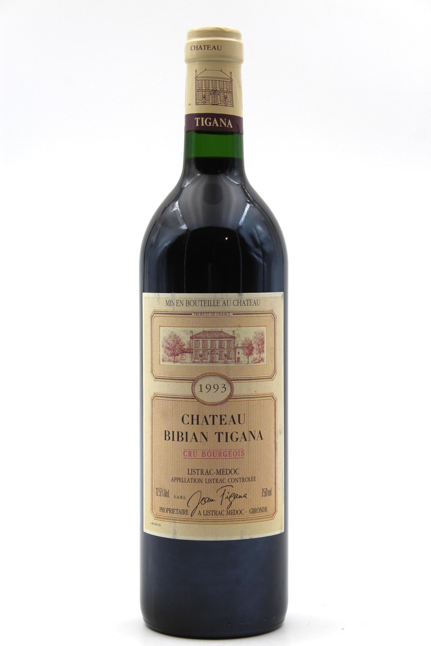 Château Bibian Tigana 1993 Cru Bourgeois vin Rouge 75cl AOC Listrac-Médoc