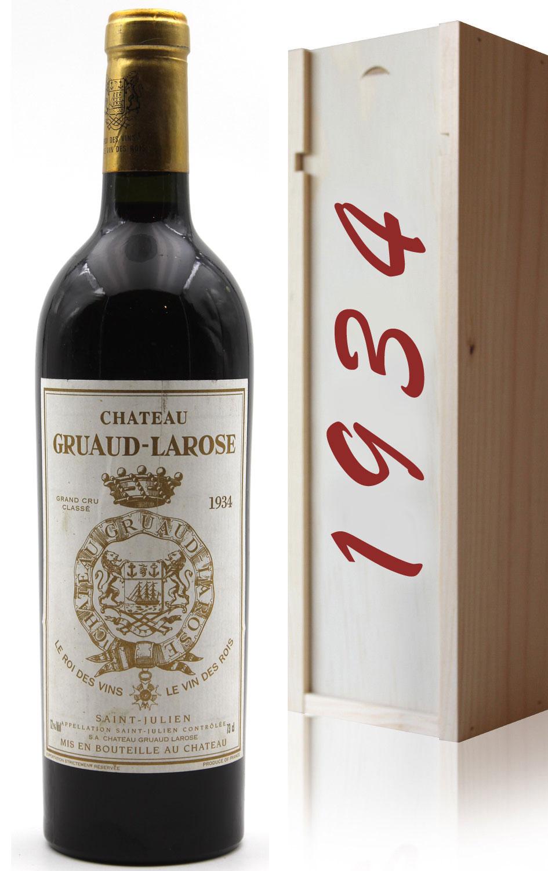 Coffret Château Gruaud Larose 1934 Rouge 75CL Saint-Julien