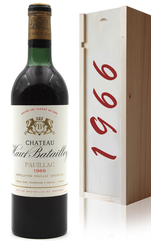 Coffret Château Haut Batailley 1966 Vin Rouge 75cl AOC Pauillac