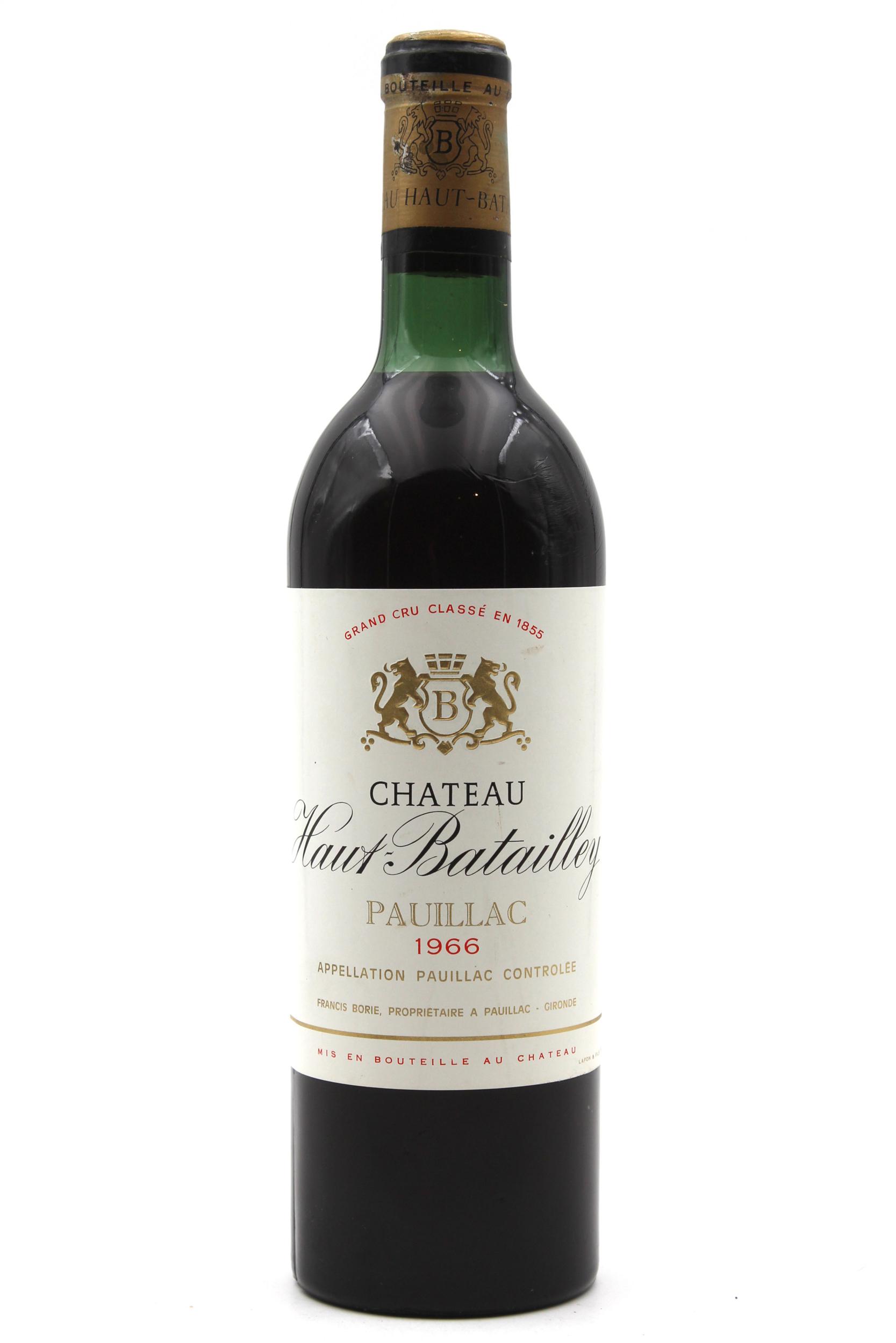 Château Haut Batailley 1966 Vin Rouge 75cl AOC Pauillac