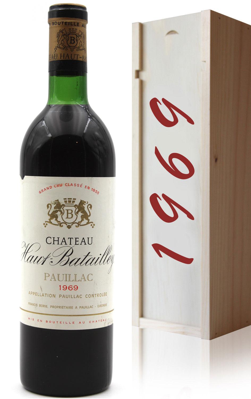 Coffret Château Haut Batailley 1969 Vin Rouge 75cl AOC Pauillac