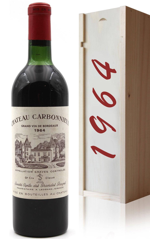 Coffret Château Carbonnieux 1964 Vin Rouge 75cl AOC Péssac-Léognan